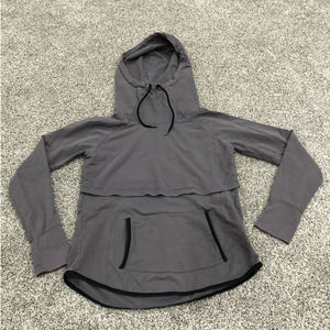Latched Mama S Grey Nursing Hooded Sweatshirt